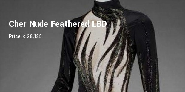 cher nude feathered lbd