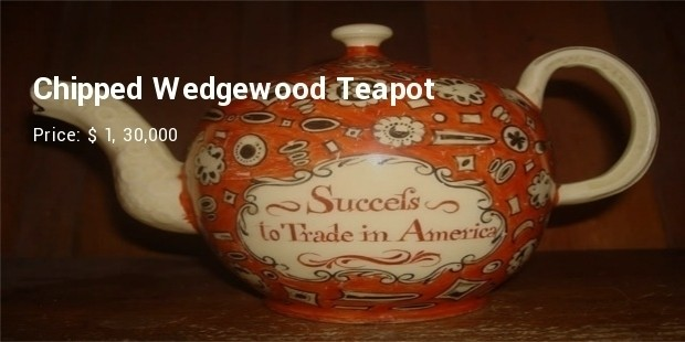 chipped wedgewood tea pot