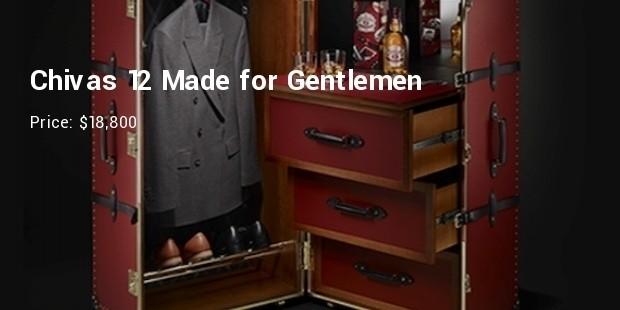 chivas 12 made for gentlemen by globe trotter