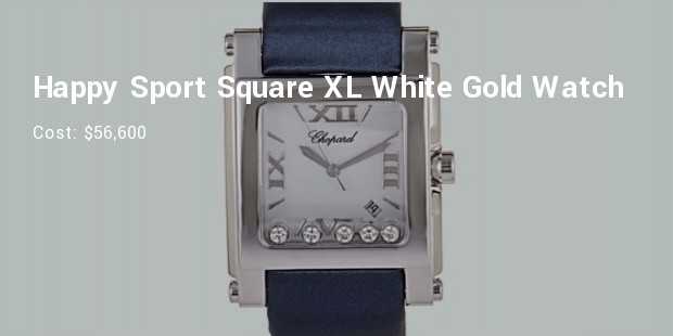 chopard happy sport square xl white gold watch