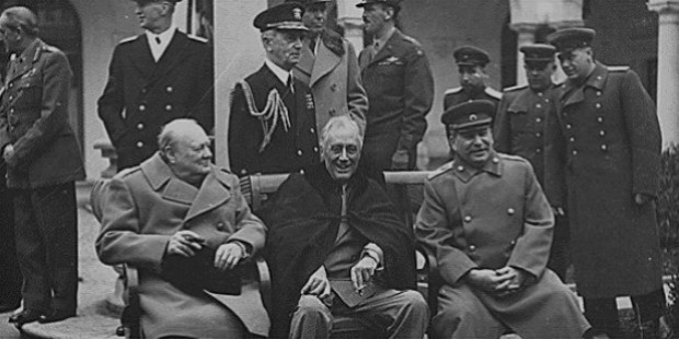 churchill, roosevelt and stalin met together for the last time at yalta