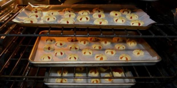 cookies in oven