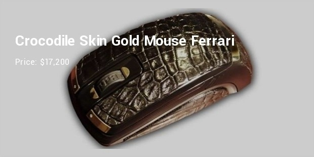 crocodile skin gold mouse ferrar