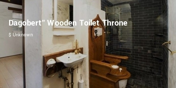 dagobert wooden toilet throne