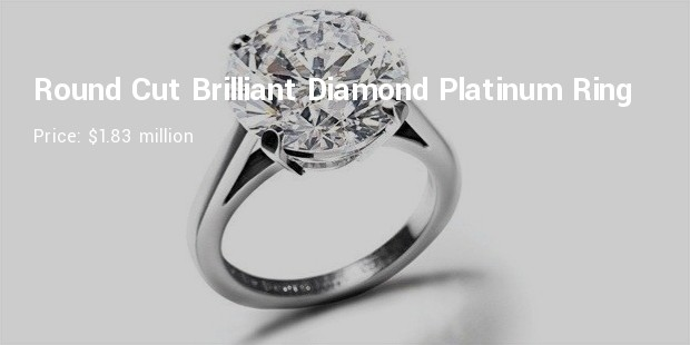 de beers round cut brilliant diamond platinum engagement ring