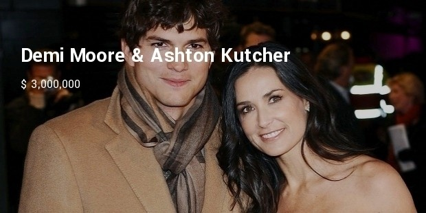 demi moore   ashton kutcher wedding photos