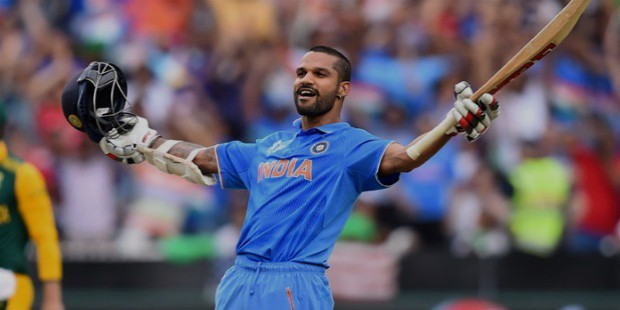 dhawan hit a fabulous 137 runs against south africa