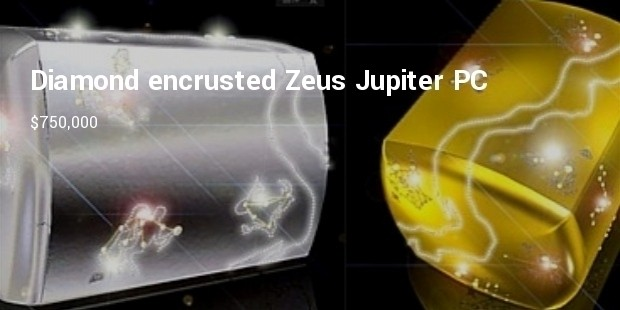 diamond encrusted zeus jupiter pc with platinum casing
