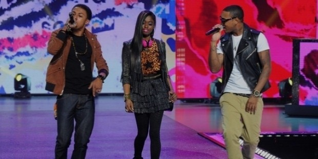 diggy simmons and jeremih perform as models walk the runway