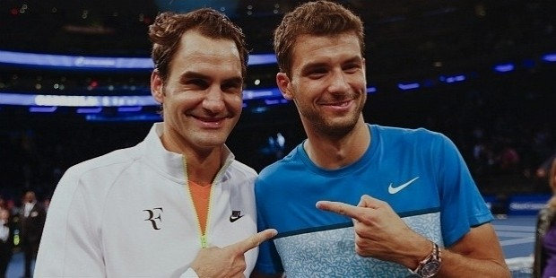dimitrov with federer