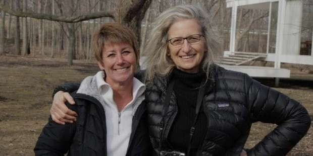 director whitney french posed with annie leibovitz