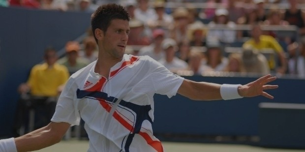 djokovic during his first round match against robin haase at the 2007 us open