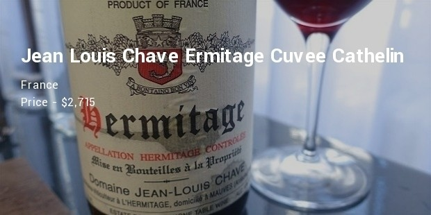 domaine jeanlouis chave ermitage cuvee cathelin, rhone, france