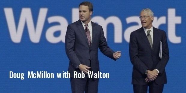 doug mcmillon, left, ceo of wal mart store, inc