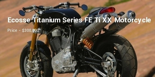 ecosse titanium series fe ti xx motorcycle Amazing luxury amazing expensive amazing gadget amazing stuff
