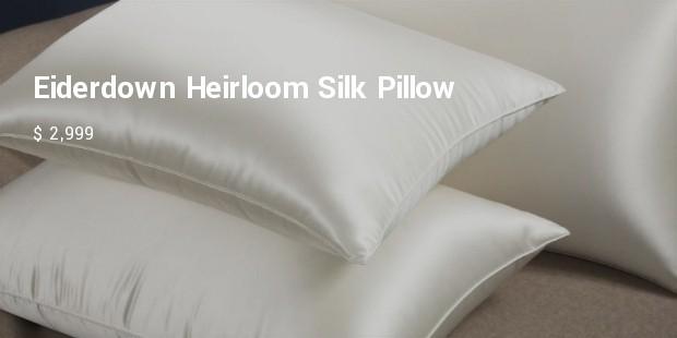 eiderdown heirloom silk pillow