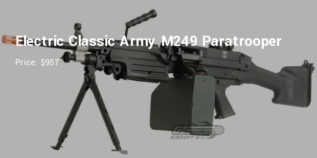 electric classic army m249 paratroope