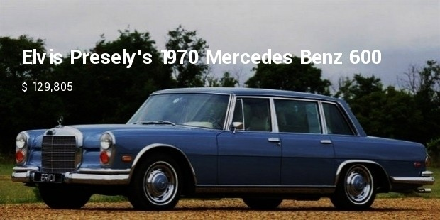 elvis preselys 1970 mercedes benz 600 saloon limousine