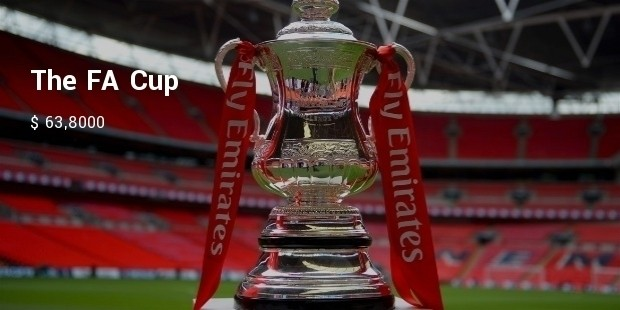 emirates fa cup on stand on pitch