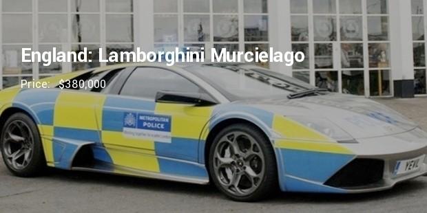 england lamborghini murceilago police car