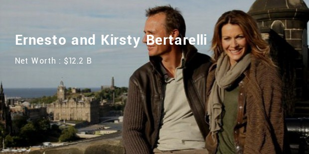 ernesto and kirsty bertarelli net worth