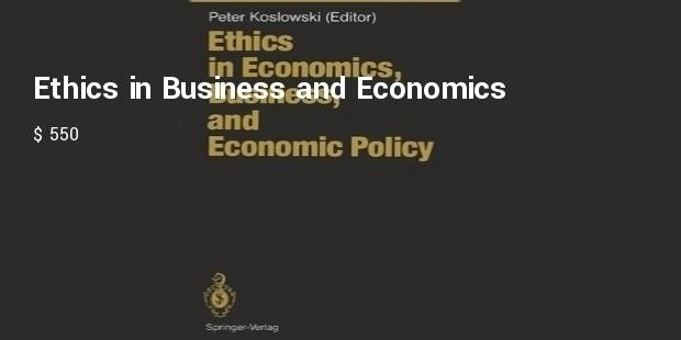 ethics in economics