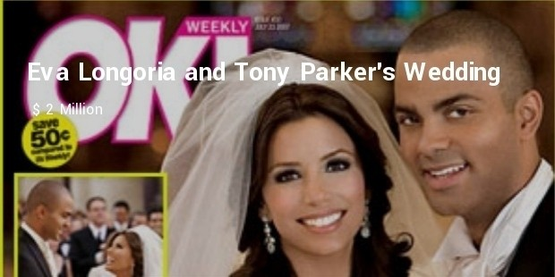 eva longoria and tony parkers wedding
