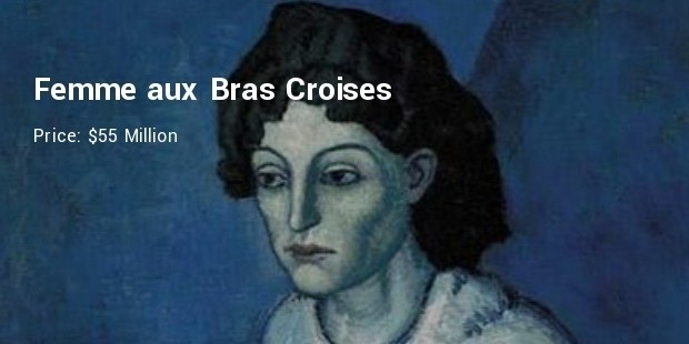 femme aux bras croises  women with folded arms , christie s, new york   $55 million