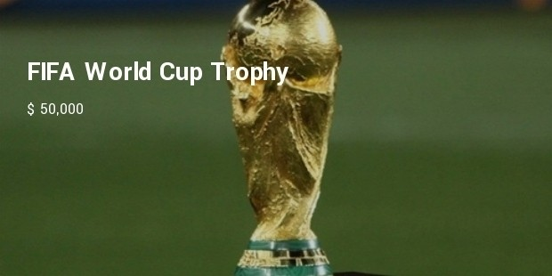 fifa world cup trophy the most prestigious and most expensive trophy