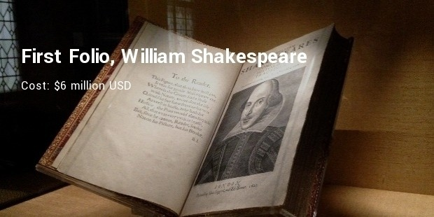 first folio, william shakespeare