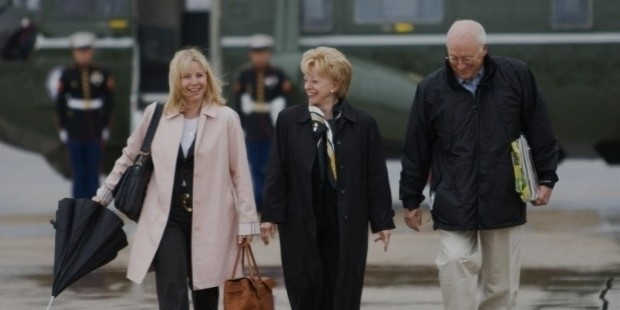 former vice president dick cheney, daughter liz, and wife lynne