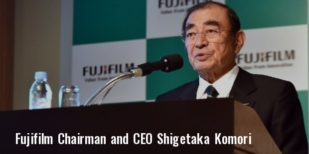 fujifilm chairman and ceo shigetaka komori