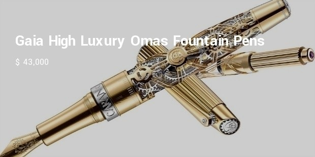 gaia high luxury omas fountain pens
