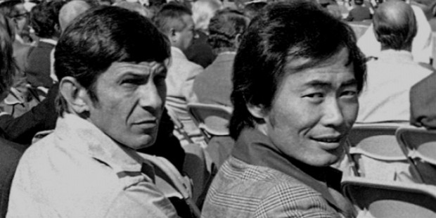 george takei worked closely with leonard nimoy