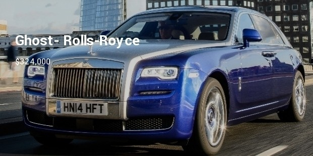 ghost  rolls royce  $324,000