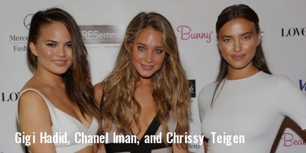 gigi hadid, chanel iman, and chrissy teigen
