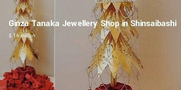 ginza tanaka jewellery shop in shinsaibashi, osaka