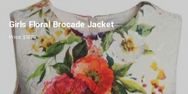 girls floral brocade jacket from dolce gabbana
