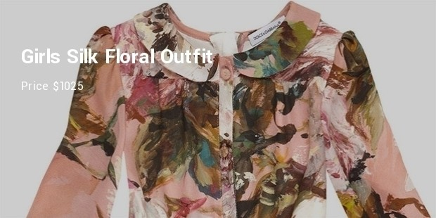 girls silk floral outfit from dolce gabbana