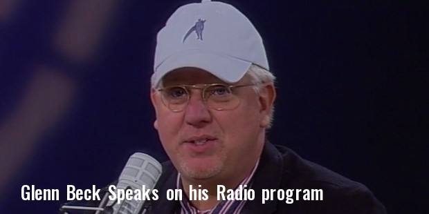 glenn beck speaks on his radio program