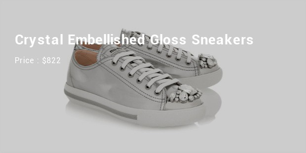 gloss leather sneakers