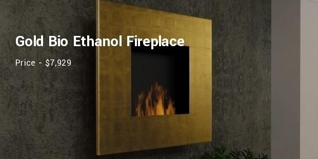 gold bioethanol fireplace