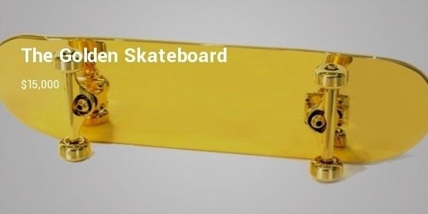 gold plated skateboard