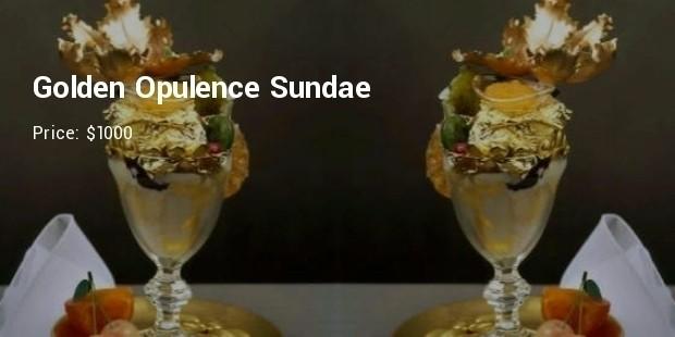 golden opulence sundae   $1000