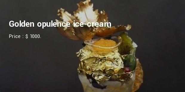 golden opulence sundae