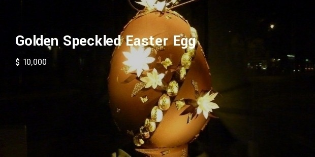 golden speckled easter egg