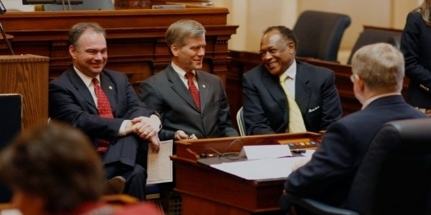 governor tim kaine, attorney general bob mcdonnell, and richmond mayor elect dwight jones