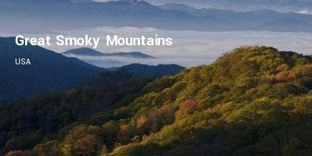 great smoky mountains,usa