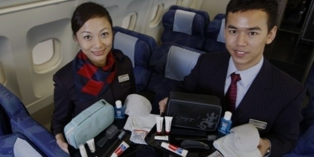 grooming kits on plane
