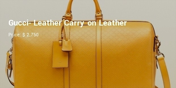 gucci  leather carry on leather